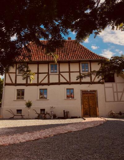Aussenansicht Ferienhaus Gänsetrappe Ballenstedt