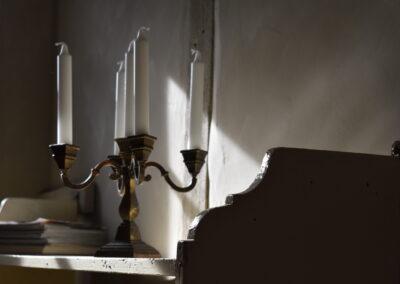 Kerzenleuchter im Ferienhaus Gänsetrappe Ballenstedt