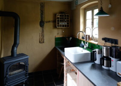 Küche im Ferienhaus Gänsetrappe Ballenstedt